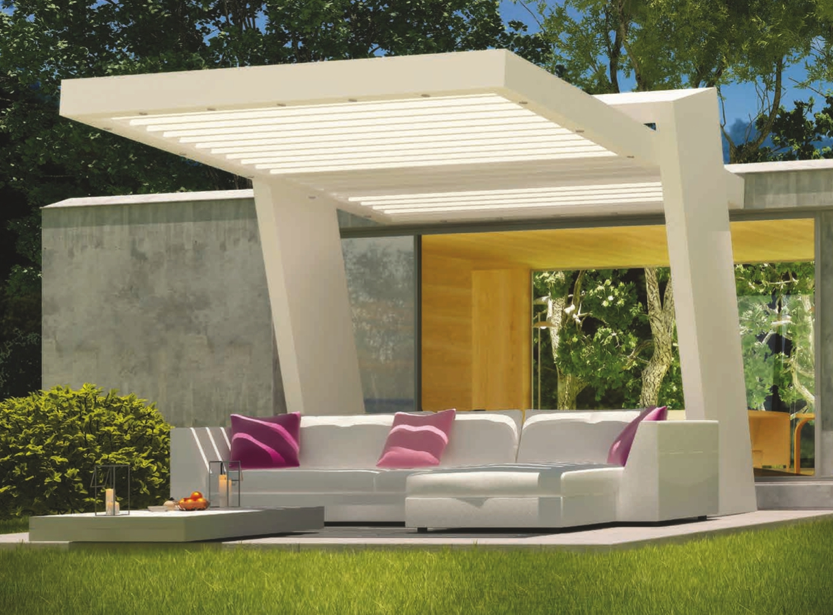 pergola contemporaine fashion designs. Black Bedroom Furniture Sets. Home Design Ideas